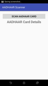 Aadhaar card Scanner screenshot 1