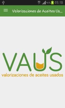 Valorizaciones Aceites Usados poster