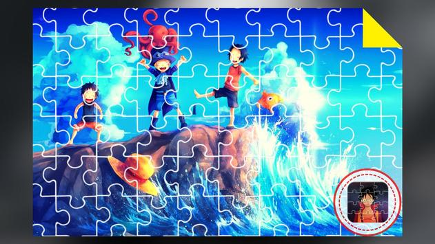 Anime Jigsaw Puzzles Games: Luffy Puzzle Anime screenshot 3