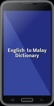 English To Malay Dictionary poster