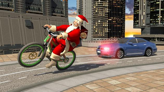 Bicycle Santa Christmas Pizza Delivery screenshot 10