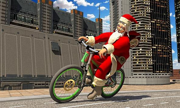 Bicycle Santa Christmas Pizza Delivery screenshot 1