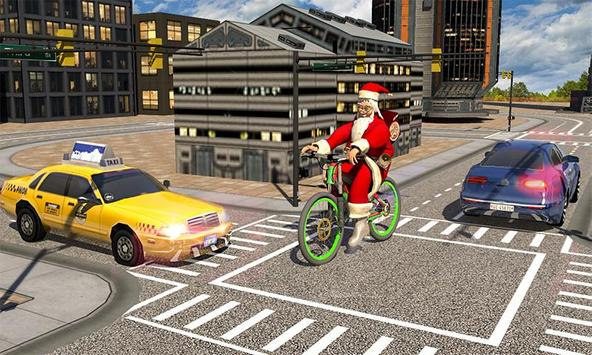 Bicycle Santa Christmas Pizza Delivery screenshot 2