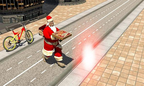 Bicycle Santa Christmas Pizza Delivery screenshot 3