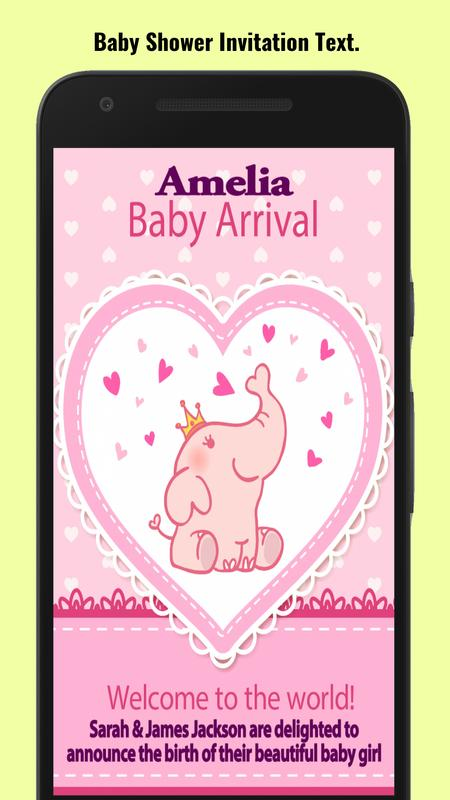Baby shower invitation maker apk download free social app for baby shower invitation maker apk screenshot filmwisefo