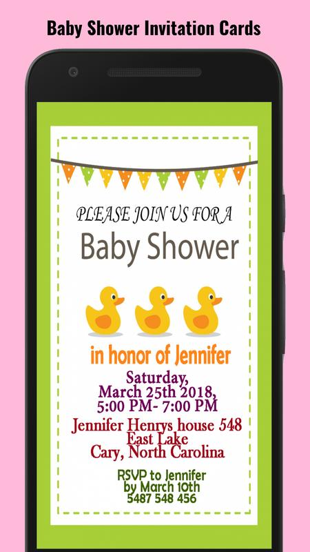 Baby shower invitation maker apk download free social app for baby shower invitation maker poster stopboris Image collections