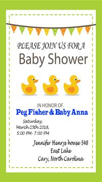 Baby shower invitation maker apk download free social app for baby shower invitation maker poster baby shower invitation maker apk screenshot stopboris Choice Image