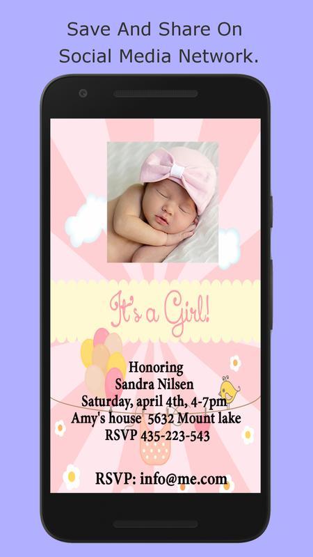 Baby shower invitation maker apk baixar grtis social aplicativo baby shower invitation maker apk imagem de tela stopboris Gallery
