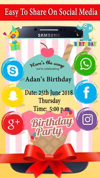 Birthday invitation card maker apk download free social app for birthday invitation card maker apk screenshot stopboris Choice Image