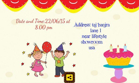 Birthday invitation card maker apk download free social app for birthday invitation card maker apk screenshot stopboris Image collections