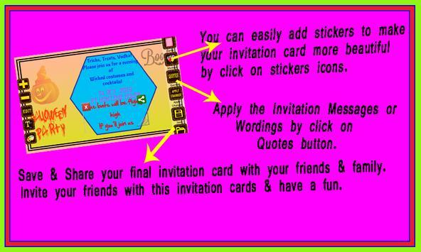 Halloween Party Invitation screenshot 1