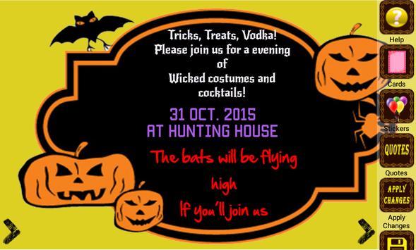 Halloween Party Invitation screenshot 3