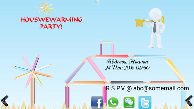 Housewarming invitation maker apk download free social app for housewarming invitation maker poster housewarming invitation maker apk screenshot stopboris Choice Image