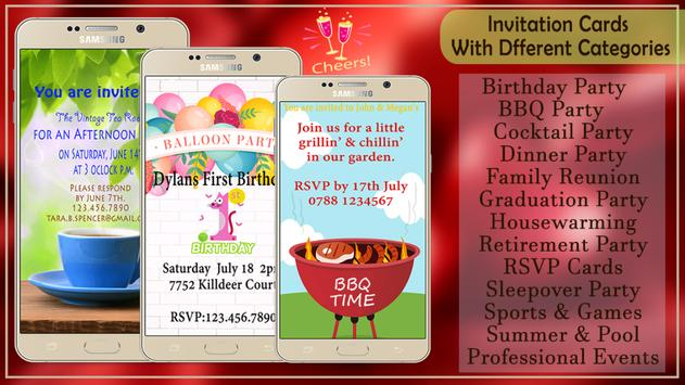 Party Invitation Card Maker poster