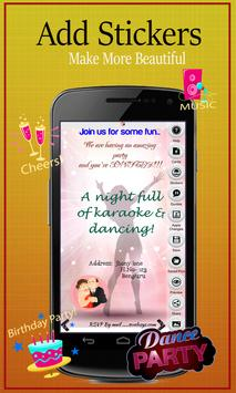 Invitation card maker app for android purplemoon party invitation card maker apk download free social app for invitation samples stopboris Image collections