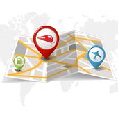Offline World Map icon