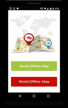 Offline World Map poster