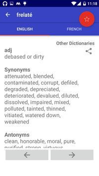 Offline English French Dictionary apk screenshot