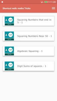 Shortcut vedic maths Tricks screenshot 1