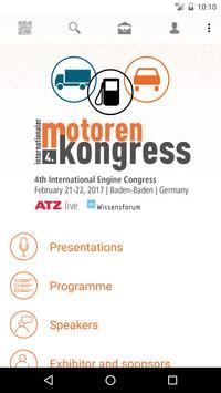Motorenkongress – App poster