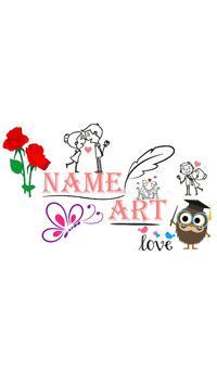 Name Art poster