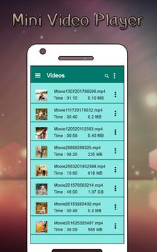 Mini Video Player apk screenshot