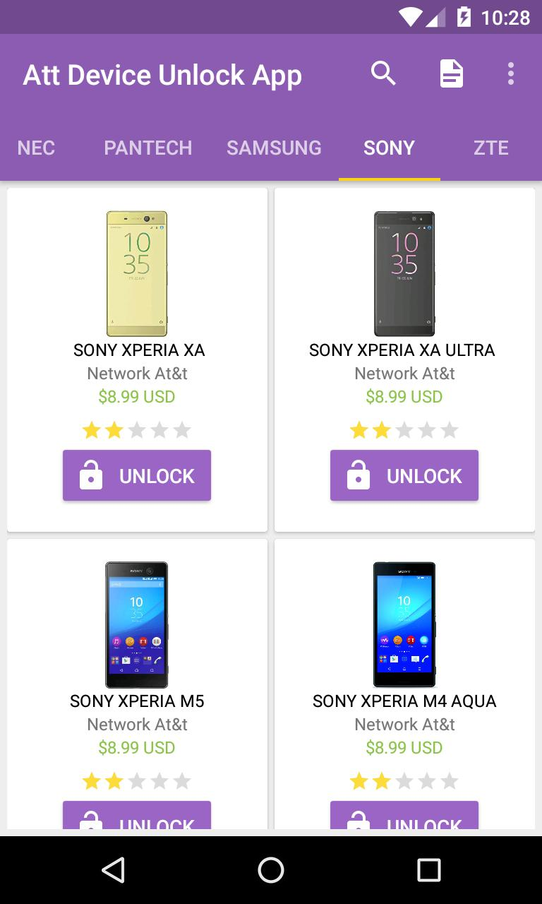 unlock cell phones At&t - network code for Android - APK