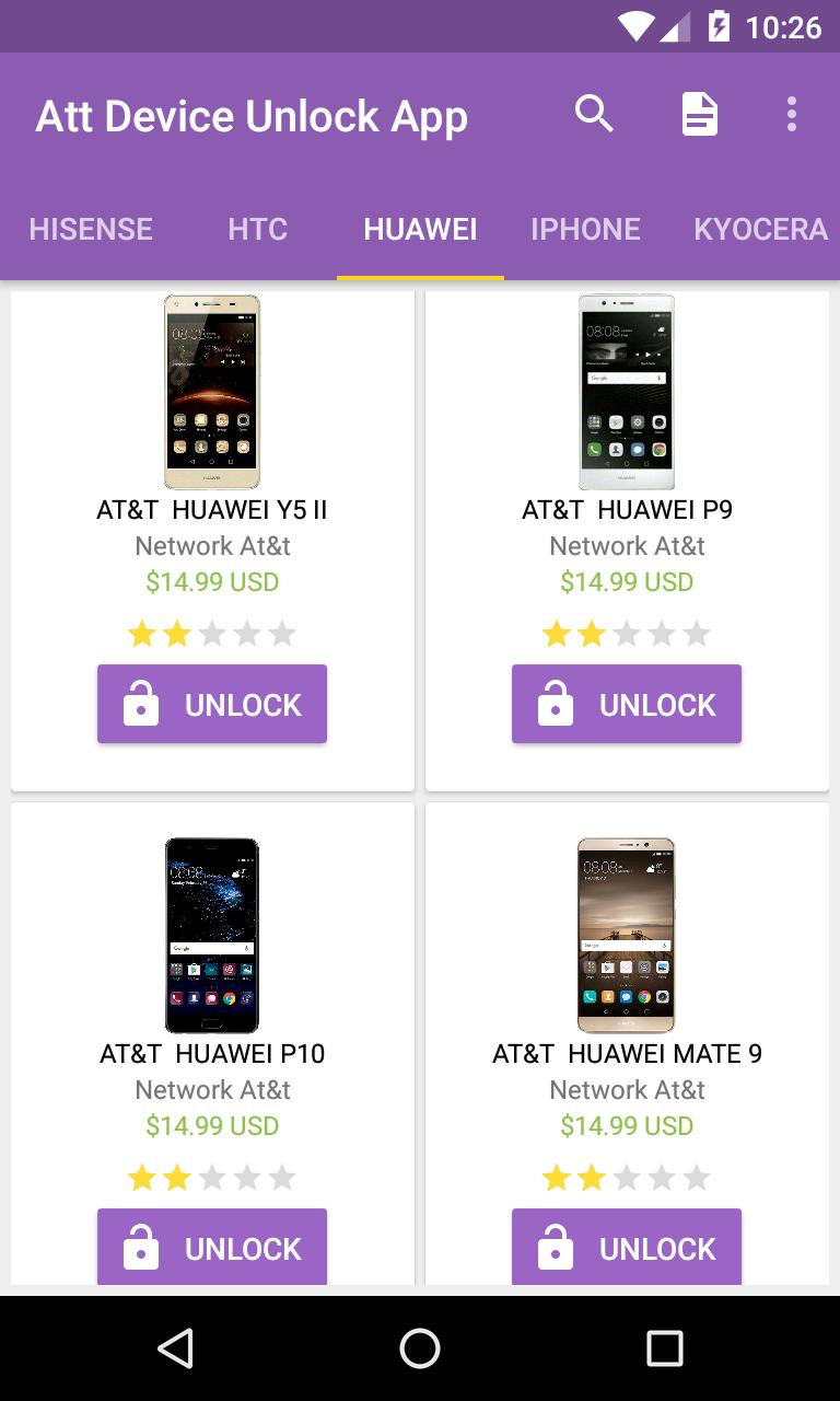 unlock cell phones At&t - network code for Android - APK Download