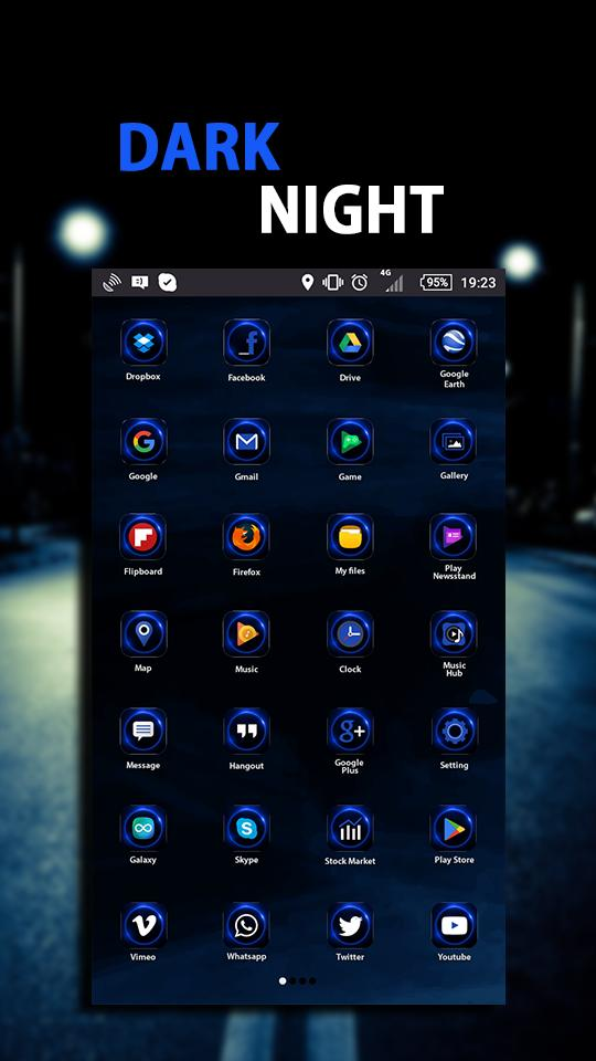 Dark Night - Launcher Theme for Android - APK Download