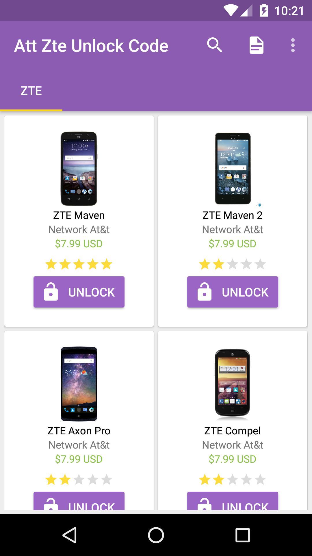 Att Unlock ZTE for Android - APK Download
