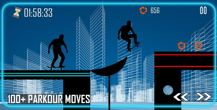 Shadow Parkour Skate poster