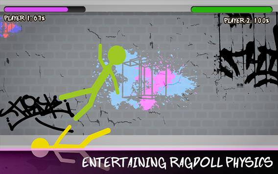 Stickman Street Fighting Battle-Real Epic Warriors screenshot 4