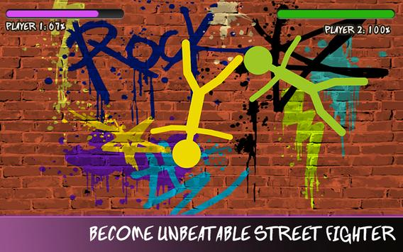 Stickman Street Fighting Battle-Real Epic Warriors screenshot 2