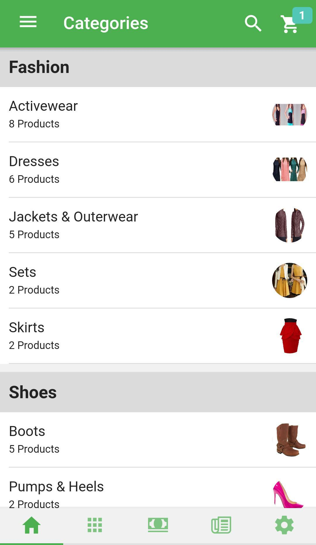 General Ionic Ecommerce Mobile App with CMS for Android