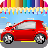Kids Car Coloring Book & Pages icon