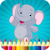 Kids Animal Coloring Book Page icon