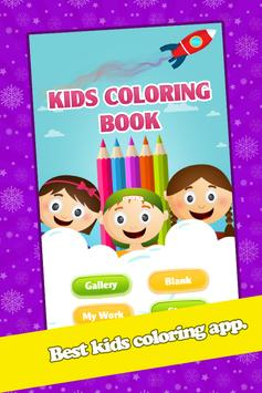 Kids Animal Coloring Book Page poster