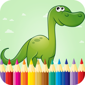 Kids Dino Coloring Book Pages icon