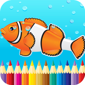 Kids Fish Coloring Book Pages icon
