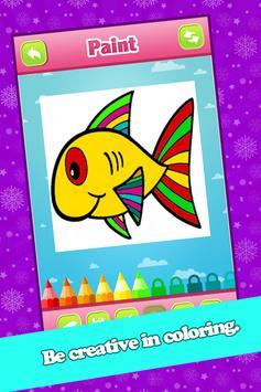 Kids Fish Coloring Book Pages screenshot 2