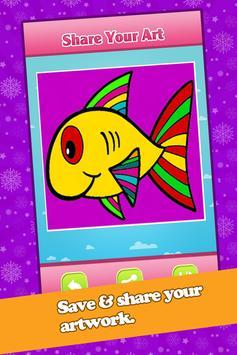 Kids Fish Coloring Book Pages screenshot 3