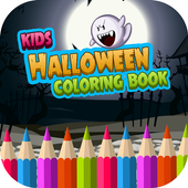 Kids Halloween Coloring Book icon