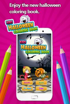 Kids Halloween Coloring Book poster
