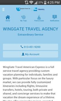 WingGate Travel Mobile poster