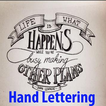 Hand Lettering Ideas Free poster