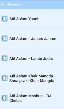 ATIF ASLAM Music and Lyrics apk screenshot