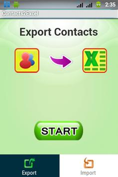 Contacts 2 Excel : Reinvented poster