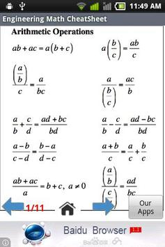 Engineering Math Cheat Sheet apk screenshot