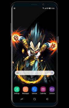 Dragon Fanart Vegeta Super Saiyan Live Wallpaper screenshot 2
