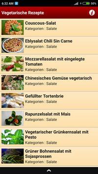 Vegetarische Rezepte screenshot 1